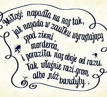 "Mikhail Bulgakov's ""The Master and Margarita"" quote in polish. by PAgata"