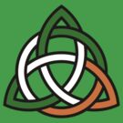 Celtic Knot in Green Orange and White by pjwuebker