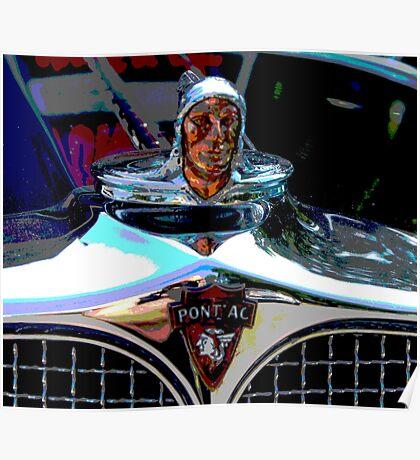 Pontiac Indian Chief Hood Ornament Poster
