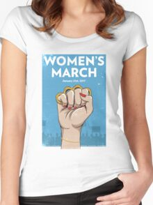 Womens March on Washington Women's Fitted Scoop T-Shirt