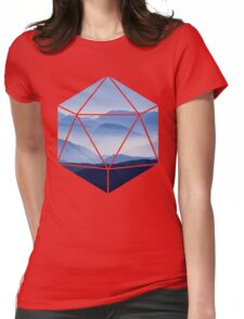 D20 - Misty Mountains Womens Fitted T-Shirt