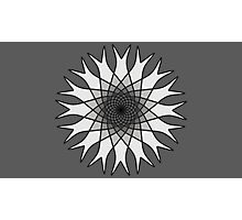 Grey Flower Black and White Photographic Print