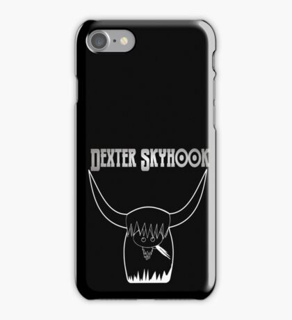 Dexter Skyhook coo White outline with name iPhone Case/Skin
