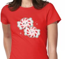 Kawaii Holiday Peppermint Candy Womens Fitted T-Shirt