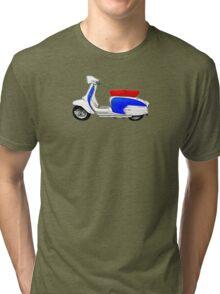SX200 Dealership Blue Scooter Design Tri-blend T-Shirt