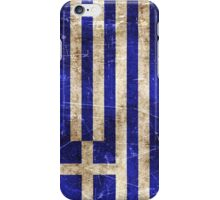 Vintage Aged and Scratched Greek Flag iPhone Case/Skin