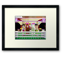 Emma and Stephanie with horses Framed Print