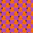 Halloween Flower Octopus Pattern by SaradaBoru