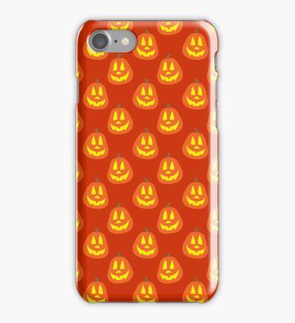 Happy Jack O Lantern Orange Pattern iPhone Case/Skin