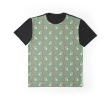 Bucktooth Dinosaur Pattern Graphic T-Shirt