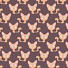 Orange Kitty Pattern by SaradaBoru