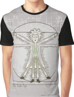 Vitruvian Rick Graphic T-Shirt