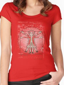 Vitruvian Rick Women's Fitted Scoop T-Shirt