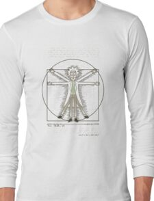 Vitruvian Rick Long Sleeve T-Shirt