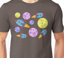 Spaceship Pattern Unisex T-Shirt
