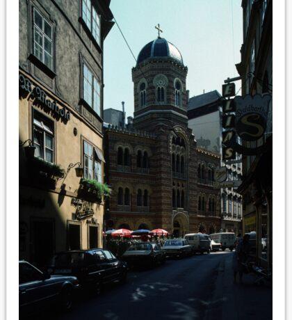 Street where I bought Polarising filter, Vienna Austria 19840803 0004 Sticker