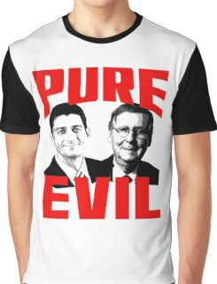 Paul Ryan, Mitch McConnell PURE EVIL Graphic T-Shirt