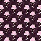 Pink Jellyfish Pattern by SaradaBoru