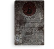 Dark Brotherhood's 5 Tenets Canvas Print