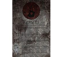 Dark Brotherhood's 5 Tenets Photographic Print