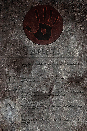 Dark Brotherhood's 5 Tenets by LynchMob1009