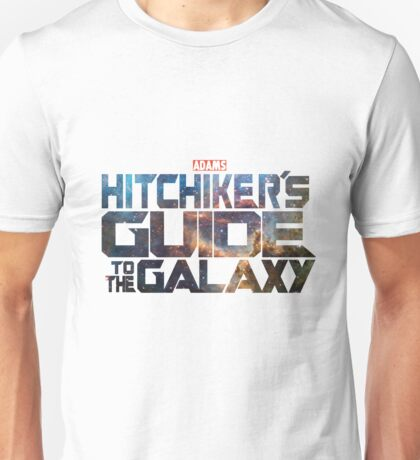 Hitchhiker's Guide To The Galaxy | Adams Classic Sci-Fi Novel Unisex T-Shirt