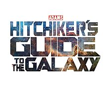 Hitchhiker's Guide To The Galaxy | Adams Classic Sci-Fi Novel Photographic Print
