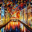 Amsterdam — Buy Now Link - www.etsy.com/listing/177566872 by Leonid  Afremov