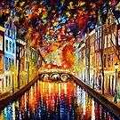 Amsterdam — Buy Now Link - www.etsy.com/listing/177566872 by Leonid  Afremov