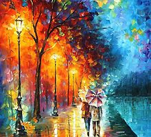 Love By The Lake — Buy Now Link - www.etsy.com/listing/166933680 by Leonid  Afremov