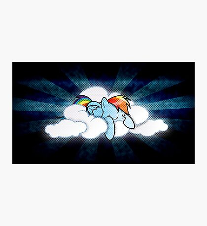 Rainbow Dash sleeping in a cloud Photographic Print