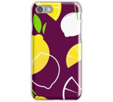 New in shop : Lemons yellow brown iPhone Case/Skin