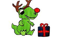 Dino Christmas  by notacyborg