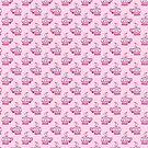Pink Teacup Pattern by SaradaBoru