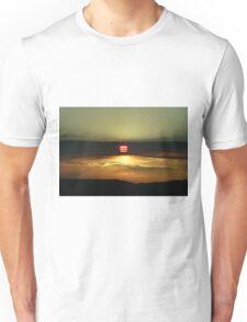 Sunset on the California Nevada border Unisex T-Shirt