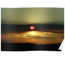 Sunset on the California Nevada border Poster