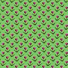 Pixel Flower Pattern by SaradaBoru