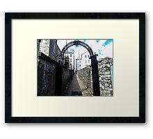 Lane in Enniskillen, Derry, Northern Ireland Framed Print