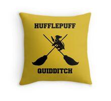 Hufflepuff quidditch Throw Pillow