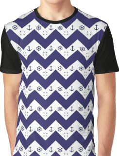 Fashionable chevron and nautical design together Graphic T-Shirt