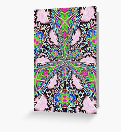 psychedelic radiance Greeting Card