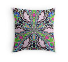psychedelic radiance Throw Pillow