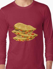 Glitch Food spicy quesadilla Long Sleeve T-Shirt