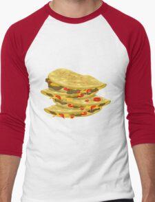 Glitch Food spicy quesadilla Men's Baseball ¾ T-Shirt