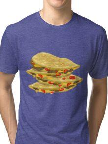 Glitch Food spicy quesadilla Tri-blend T-Shirt