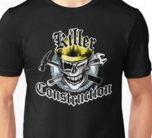 Construction Worker Skull 6: Killer Construction Yellow Unisex T-Shirt