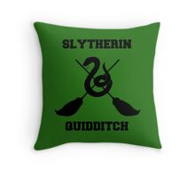 Slytherin quidditch Throw Pillow
