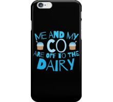 Me and my co are off to the dairy funny New Zealand kiwi saying iPhone Case/Skin