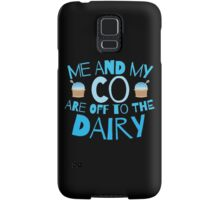 Me and my co are off to the dairy funny New Zealand kiwi saying Samsung Galaxy Case/Skin