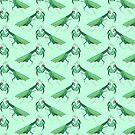 Green Praying Mantis Pattern by SaradaBoru